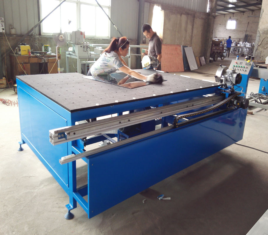 Double Heads Horizontal Low-E Glass Edge Deleting Machine Double Glazing Equipment