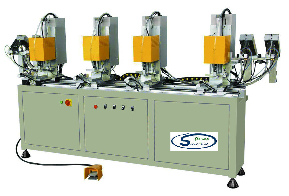 Window Screw Tightening Machine With Four Head , PVC Window Machinery
