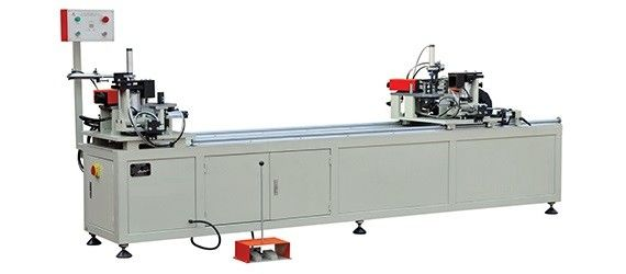 Automatic Two Head Aluminium Corner Crimper / Aluminum Window Corner Crimping Machine