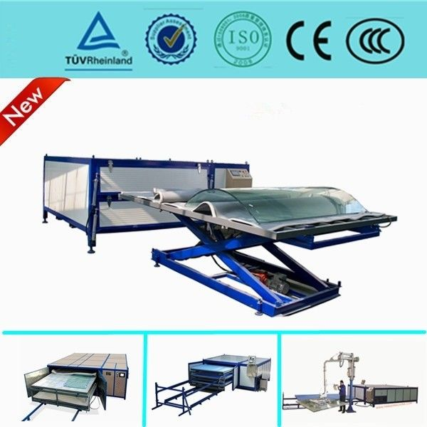 Heat Glass Lamination Machine , Automatic Vacuum Laminating Machine For Glass Curtain Wall