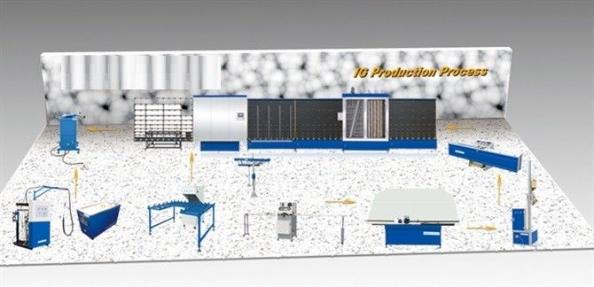 Double Insulating Glass Production Line 1 Year Warranty , Speed 50m / min