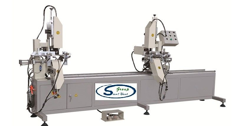 Double Head Window And Door Machinery , High Precision CNC Double Mitre Saw