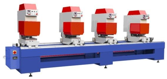 High Efficient UPVC Window Machine Welding PVC Profile With Four Head