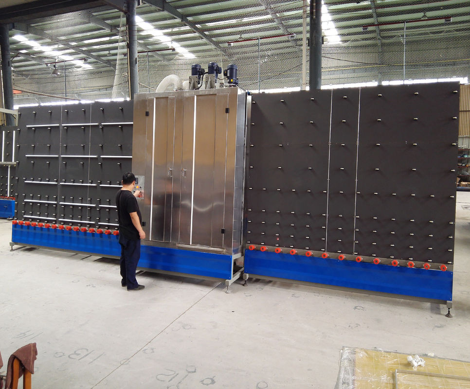 2000Mm Vertical Low – E industrial glass washer Equipment 3 Pairs Brushes,Vertical Flat Glass Washing Machine