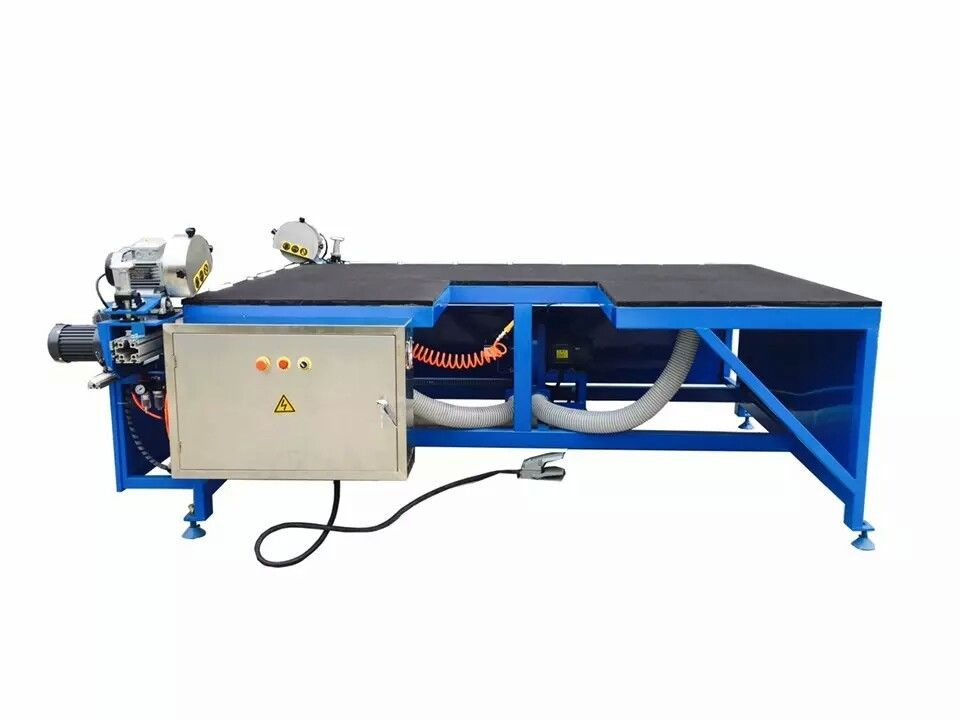 Semi – Automatic Glass Making Machine Horizontal Double Heads Low-e Edge Remover