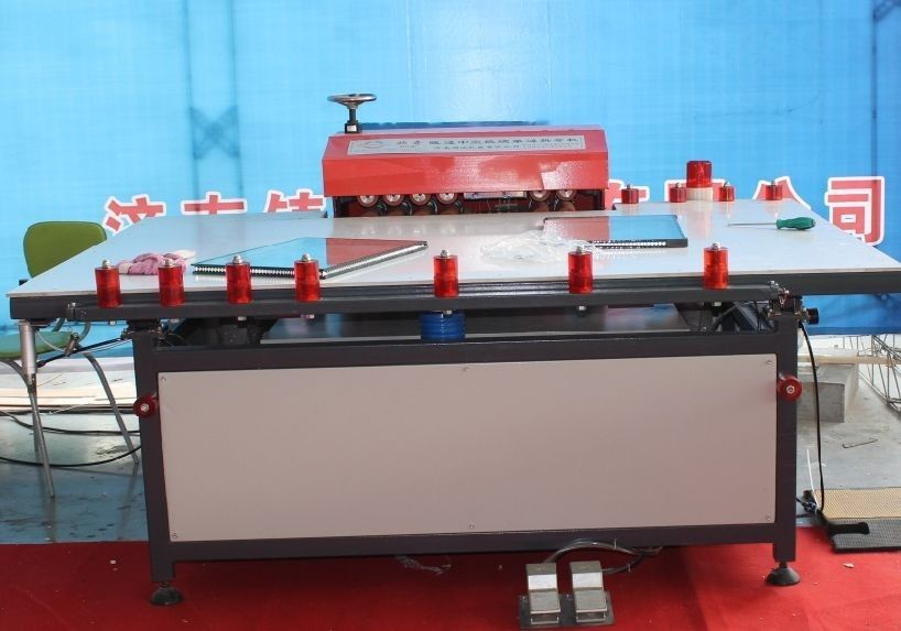 Cold Roller MINI Press Table Double Glazing Machinery 1000mm Width