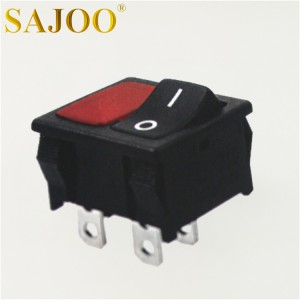 SAJOO 10A 125V 5E4 bipolar rocker switch SJ2-3