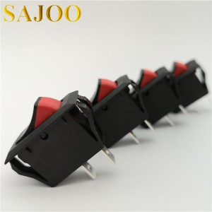 SAJOO 16A 125V 5E4 2PIN rocker switch SJ4-4