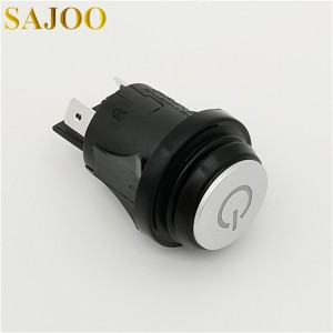 High quality supplier 16A 250V UL certified circular LED waterproof push button switch SJ1-2(P)-LED