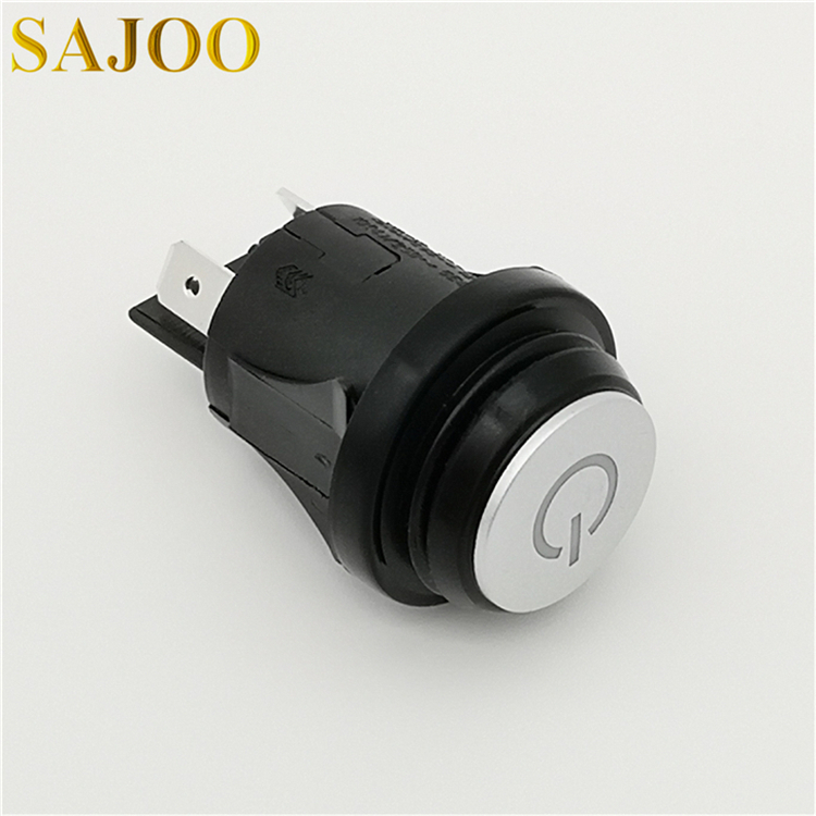 High quality supplier 16A 250V UL certified circular LED waterproof push button switch SJ1-2(P)-LED Featured Image