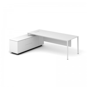 SAOSEN BRAND EXECUTIVE DESK/OFFICE TABLE/PRESIDENT DESK  WITH POWDER COATED MDF /ITALIAN QUALITY