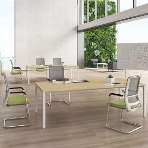 Manufacturer for Large Size Conference Table Modern Style Wooden Office Furniture Steel Frame Meeting Desk