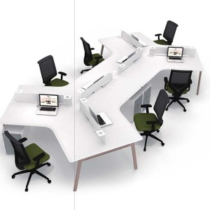 Neofront staff desk/ staff bench/ 6-person workstation with powder finishing