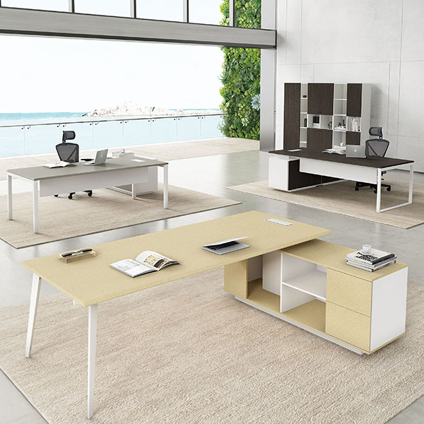 Saosen atwork Manager table with powder finishing. N3 Manager desk Featured Image