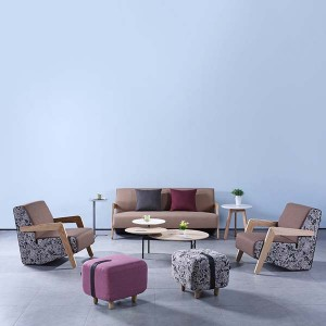 Neofront sofa and stool/ Lounge stool/ fabric stool