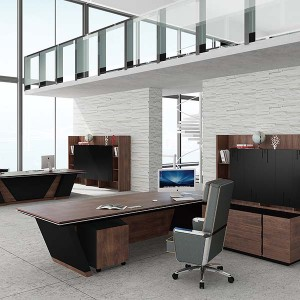 Saosen executive tafel met fineer lacqure, Leader tafel