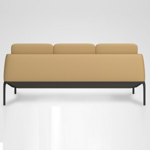 Fashion sofa design, real leather sofa with metal base support