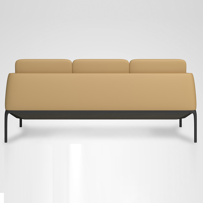 Fashion sofa design, real leather sofa with metal base support Featured Image