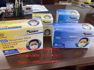 Disposable Nonwoven KN95 N95 Folding Half Face Mask Have CE And FDA Certificate