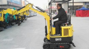 1.3 ton full hydraulic crawler mini excavator