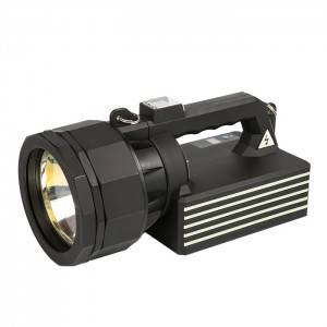 100W high power HID searchlight, beam distance 2.3KM, high lumen remote control military strong light searchlight