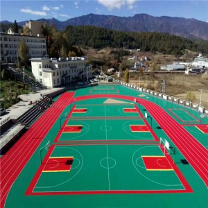 Fire resistant basketball courts rubber flooring mat