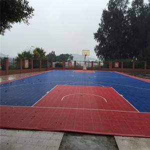 Backyard DIY Basketball Court Modular assembled Sport Tiles