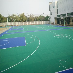 High Quality Basketball Court Plastic Tile for Outdoor Basketball Court Floor