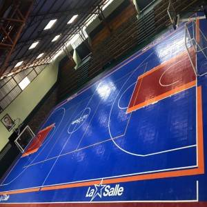 Flat surface solid color modular futsal court basketball court