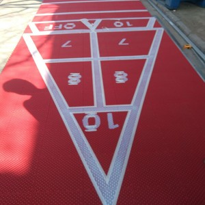 PP material Movable Shuffleboard Court