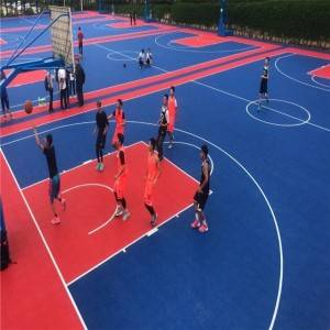 Indoor Outdoor PP temporary simple Color tiles interlocking sports flooring suspended floor