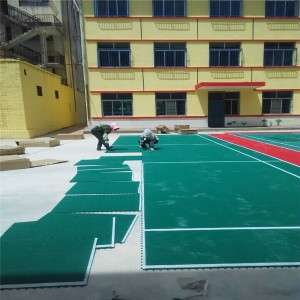 Intelligent PP interlocking portable Plastic Sports Flooring For Tennis Court Surface