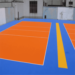 Interlock Plastic volleyball flooring anti slip indoor volleyball Floor