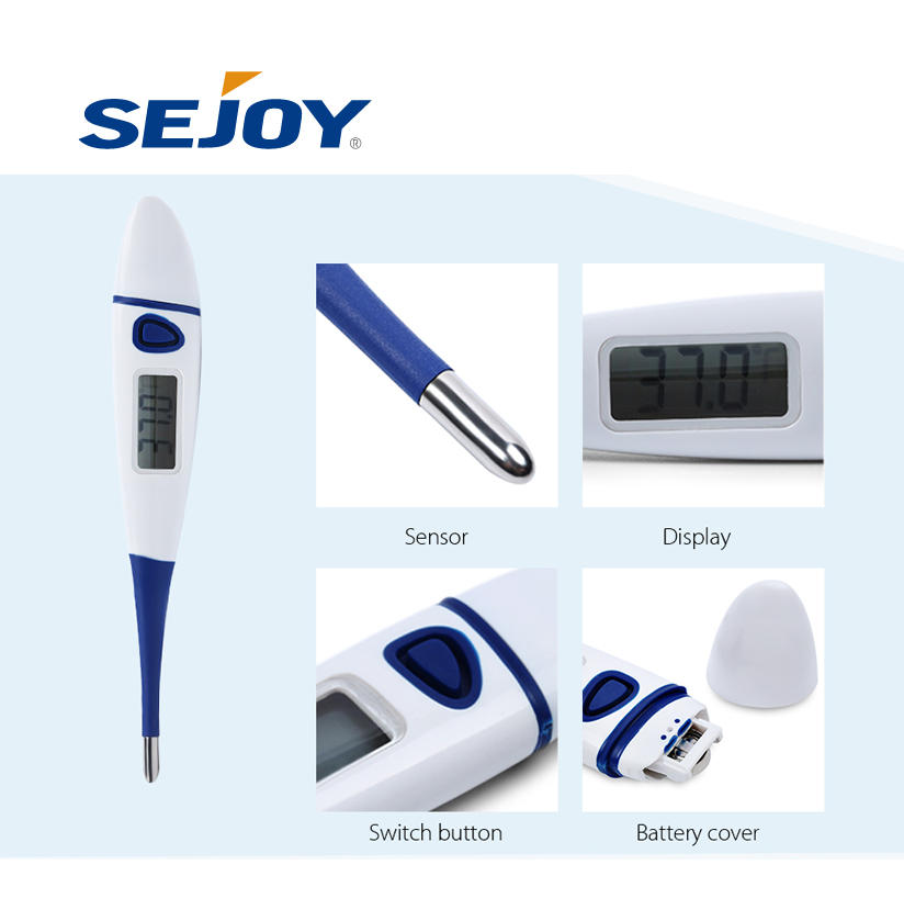 2017 Good Quality Digital Thermometer With Sensor And Probe - Dual Scale Jumbo LCD Soft Tip Electronic Thermometer – Sejoy Electronics