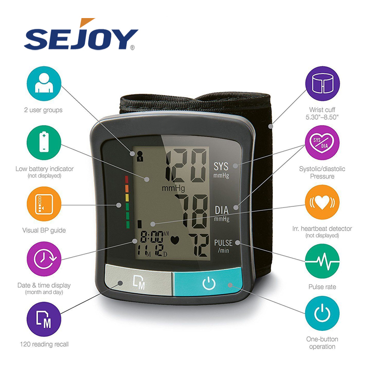 Medical High Accuracy Hospital Wrist BP Sphygmomanometer