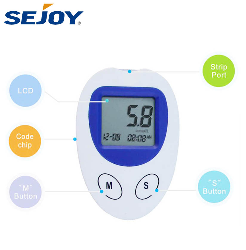 Medical Device OEM Strip Tests Electronic Blood Glucose Monitor