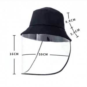 faceshield fisherman cap NCP COVID-19 transparent face mask Prevent viral infection bucket hat  prompt goods