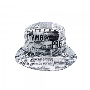 News Paper Bucket Hats
