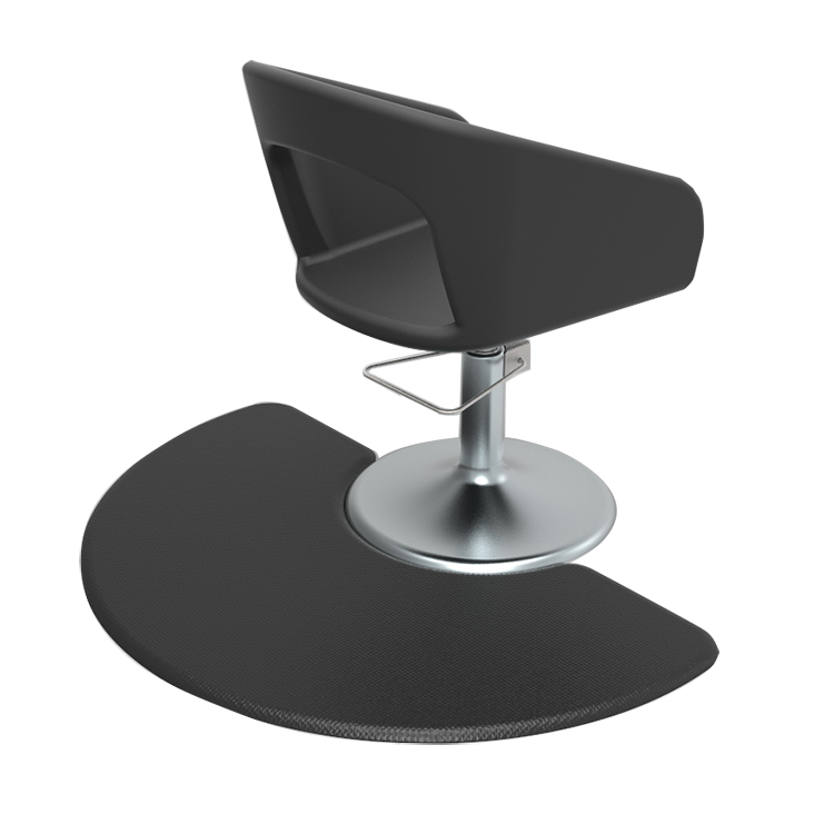 Wholesale Price Barber Chair Salon Mat - black Semi Circle Anti Fatigue Beauty Salon Floor Mat – Sheep
