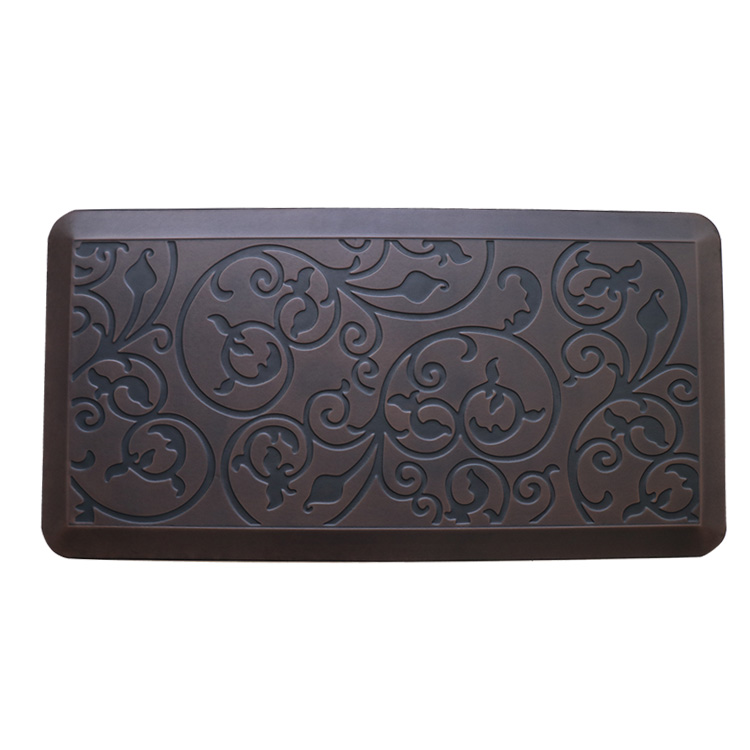 2019 Latest Design Pu Leather Mat - Antique Flower Kitchen Anti Fatigue Floor Mat – Sheep