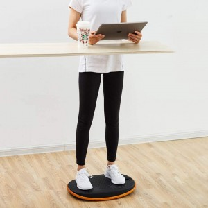 Egg Round Shape Balance Board Wobble Board Anti Fatigue Mat