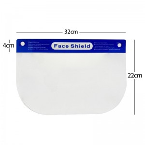 Wholesale Safety Face Shield Visors With Protective Clear Film Transparent Anti-fog Anti-spray Head Cover PET Face Shield