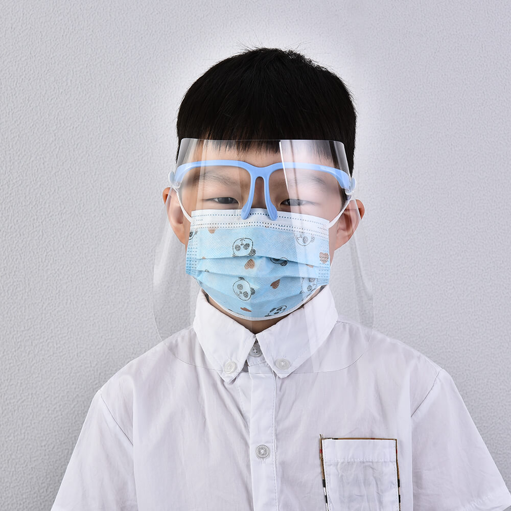 Mga Bata nga Anti Fog Anti Splash Safety Protector Disposable Protective Cover Eyeglass Face Shield