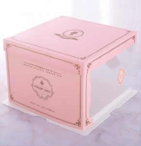 FOOD GRADE WHOLESALE CUSTOM HANDLE CUP CAKE BOXES WITH WINDOW