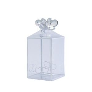 3D Heart Pattern Hard Transparent Fruit Packaging Materail Waterproof Clear Square PVC PET Plastic Boxes