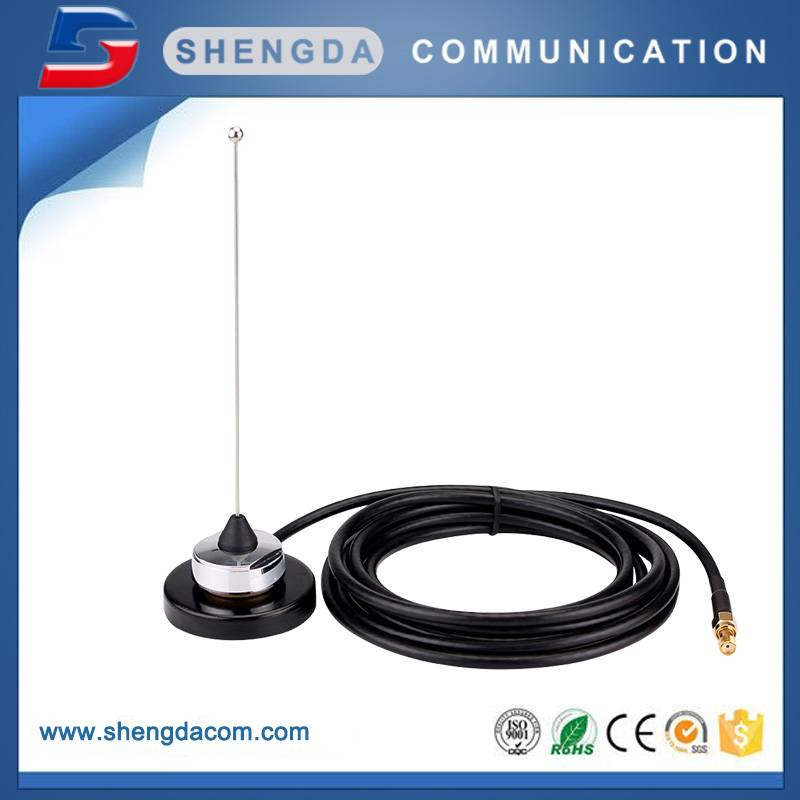 Vehicle antenna stainless steel whip antenna NMO connector VHF mobile antenna