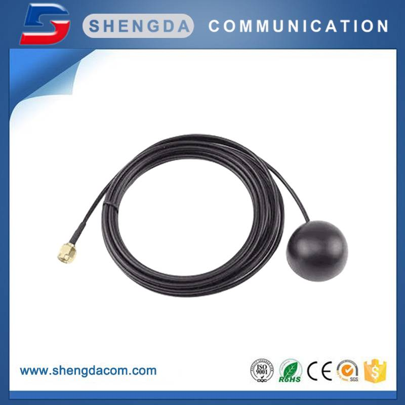 High gain gps antenna with sma-male connector