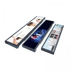 Commercial Display Shelf Bar Type LCD Screen Advertisement Signage Player