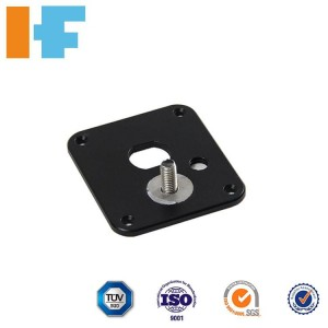 Free sample High Precision laser cut aluminum Product black anodized surface