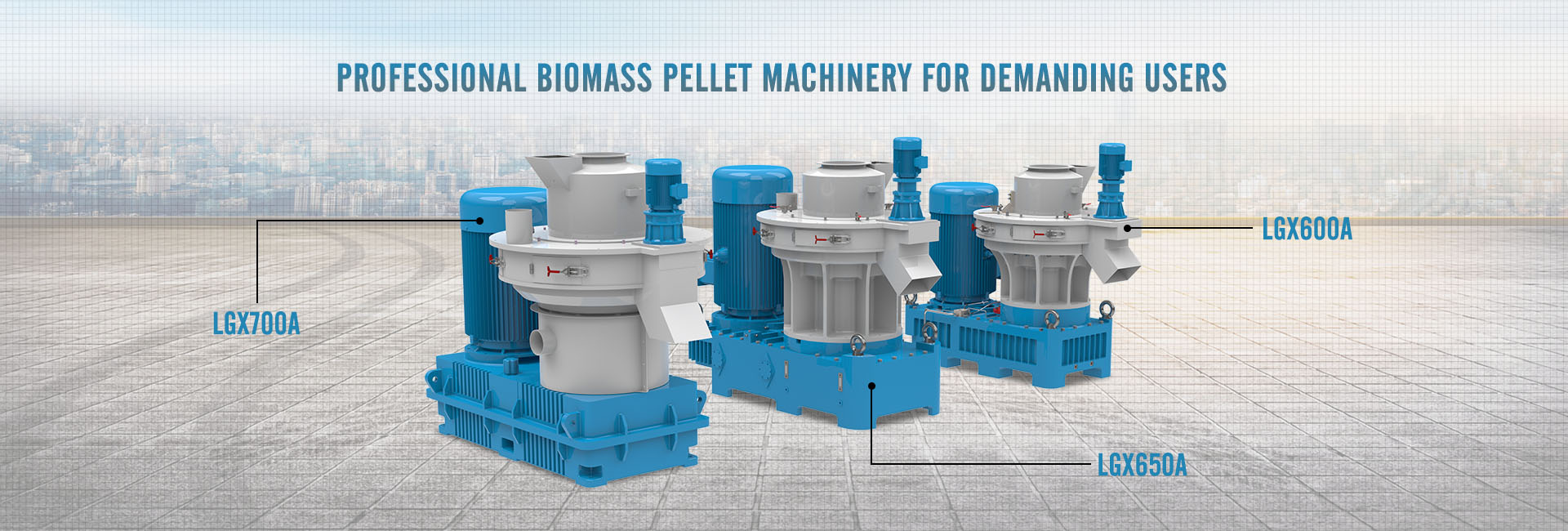 Professional biomass pellet machinery for demanding users